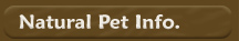 Information about Natural Pet Care Products